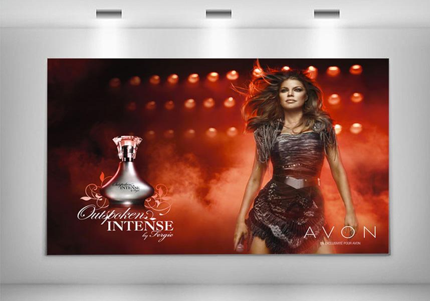 Création grqphiaue affiche Parfum